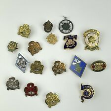 More details for vintage job lot girl guide & other brass & solid silver badges wi baden powell