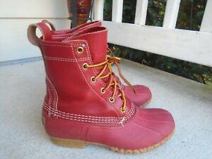 """LL Bean Red """"Bean Boot"""" Unlined Duck Boots  - Women's Size 7"""