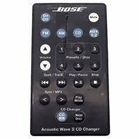 (Defective) Bose-Acoustic Wave II CD Changer Remote Control Black Original