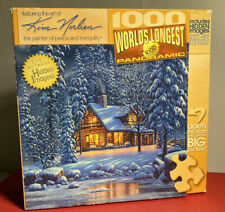 """Master Pieces Panoramic 'River Of Lights' Kim Norlien 1000 Piece Puzzle 39""""x13"""""""