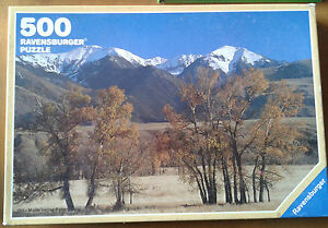 PUZZLE 500 Ravensburger montagne rocciose 1984 Made in West Germany 49,3x36,2 cm