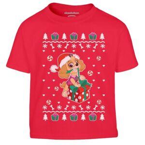 Paw Patrol Ugly Christmas Skye Weihnachtsgeschenk Kinder Jungen T-Shirt