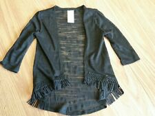 Girls Youth Lightweight Black Cardigan with tassles Size 4-5