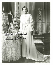 LOUISE RAINER DECEASED AUTOGRAPHED SIGNED 8X10 B&W 1ST WOMAN 2 ACADEMY AWARDS