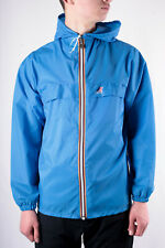 Vintage K-Way Sky Blue Classic Waterproof Cagoule Jacket Size S 80s casuals