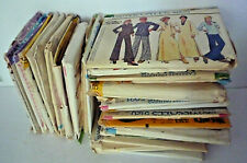 Large Lot 40 Vintage Sewing Patterns Classic 1970s Misses, Womens, Pre-Owned