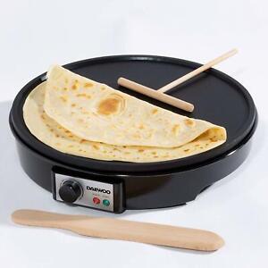 Daewoo Electric Pancake Crepe Maker 1000W Non-Stick Crepes