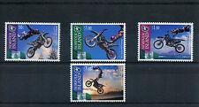 Norfolk Island 2013 MNH Trans Tasman FMX Challenge 4v Set Motorcycles Stamps