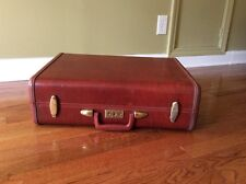 Vtg 1950's Mid Century Samsonite Streamlite hard shell suitcase luggage Bartley