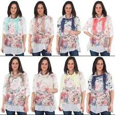 Collared Plus Size 100% Cotton Tops & Blouses for Women