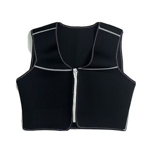 Sauna Vest Womens Size 1X Neoprene Ultimate Trimming Zip Up Athletic Workout