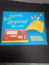 """VINTAGE MADE IN ITALY MILANO - MULTIPRINTS """"SUPERIOR"""" ART. 456 (PRINTING OUTFIT)"""