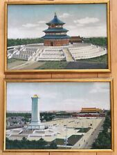 China Landmarks Framed Fabric Pictures Temple Of Heaven Tiananmen Square