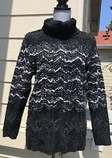 Vintage Yves Saint Laurent YSL Tweed Knit Wool Blend Sweater Size M