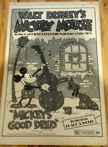 Mickey's Good Deed (Mickey Mouse) 1974R 1-Sheet Poster 27x41 Disney