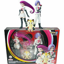Bandai S.H Figuarts Pokemon Team Rocket Jesse James Meowth Action Figure USA NE