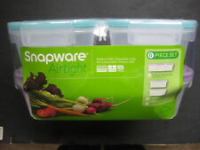 Snapware Food Storage 6Pc Set=(1) 4.5C +(2) 2C-Airtight, Stackable-BPA Free