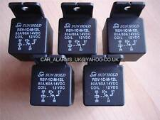 NEW CAR BIKE 12V 70A 5 PIN CHANGEOVER RELAY SWICH X 5