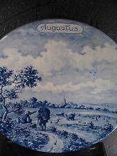 Delfts Blue Delft  Holland AUGUST AUGUSTUS Month Plate ltd 5,000 Pcs