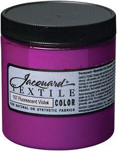 Jacquard Textile Color Fabric Paint 8oz-Fluorescent Violet
