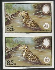 Belize (1259) - 1983 WWF Jaguar 85c IMPERF PAIR unmounted mint