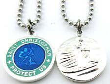 Saint Christopher Surf Medal Protector of Travel rb-te Royal Blue-Teal Medium