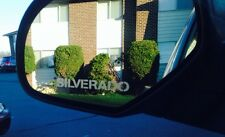 """4 Silverado Silver Etched Vinyl Decals.Great For Mirrors 4.5"""" Wide"""