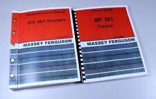 Massey Ferguson 261 Tractor Service Repair Manual Parts Catalog Overhaul Shop Bk