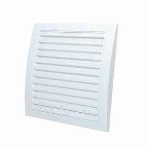White Air Vent Grille with Fly Screen Square Duct Ventilation Cover