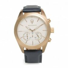 MASERATI R8871612016 Traguardo Rose Gold, Pearl coulered Dial, Blue Leather