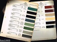 Original 1946 DODGE Color Chip Paint Sample Chart Brochure (ACME)