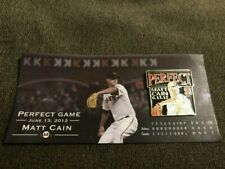 Brand New: MLB SF Giants Matt Cain Perfect Game Pin 6/13/2012 SGA w/ Free Ship!