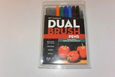 Tombow Dual Brush Pen Art Markers Primary 10-Pack (missing 3)
