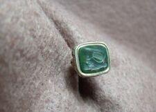 Antique 19th Century Bloodstone Intaglio Lyre & Bush Gold Filled Wax Seal Stamp