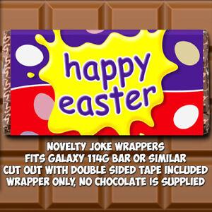 Happy Easter Chocolate Bar Wrapper Novelty Hunt Scavenger (wrapper only)
