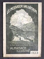 Storia Valle d'Aosta - Le Messager Valdotain - Almanacco Illustrato 1923