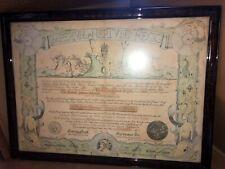 Vintage 1944 Us Navy Imperium Neptuni Regis Certificate