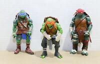 "TMNT Paramount Playmates 2014 Lot (3) - Leonardo + Raphael + Michelangelo 5"""