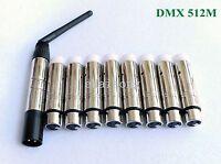 9X 2.4G 126ch Wireless DMX Stage Light Controller Transmitter Receive XLR stick