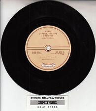 "CHER  Gypsies, Tramps & Thieves & Half Breed 7"" 45 record + juke box title strip"