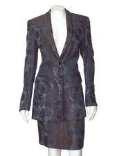 *FINAL MARKDOWN!* Escada Gray & Brown Metallic Jacket & Skirt Suit sz 36 4 / 6