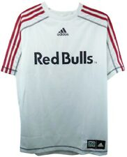 New York Red Bulls MLS Adidas Soccer Jersey White w/ Red Stripes Shirt Men's XL