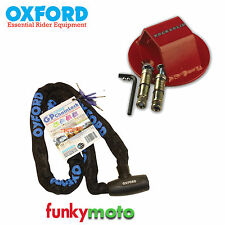 OXFORD GP 1.5M CHAIN LOCK & ATOM GROUND ANCHOR SECURITY PACK BIKE SCOOTER