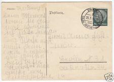 Landpoststempel, Poststelle I, Zinnitz über Calau (Niederlausitz), 25.7.42