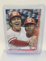 2019 Topps SP Greats Variation Johnny Bench (with Joe Morgan) #573 Reds RARE