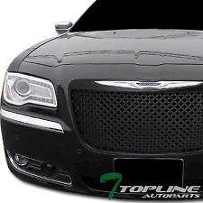 Topline For 2011-2014 Chrysler 300/300C Mesh Front Hood Bumper Grill Grille -Blk