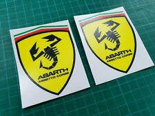 Fiat 500 / 595 / 695 Abarth Assetto Corse wing Decals / Stickers 80mm quality