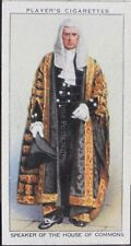 No35 SPEAKER OF HOUSE OF COMMONS Coronation Series Ceremonial Dress, Player 1937