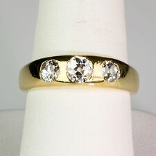 Gorgeous Antique Victorian 18K Gold  Diamond .90ctw Gypsy Ring Sparkles ER872