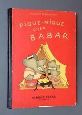 Pique-nique chez Babar. Hachette 1949 De Brunhoff